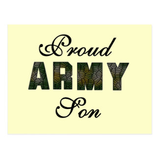 Proud Army Son Tshirts and Gifts Post Card