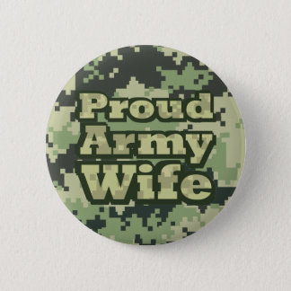 Proud Army Wife 2 Inch Round Button