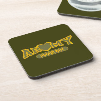 Proud Army Wife Beverage Coaster