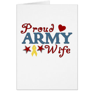 Proud Army Wife Collage Card