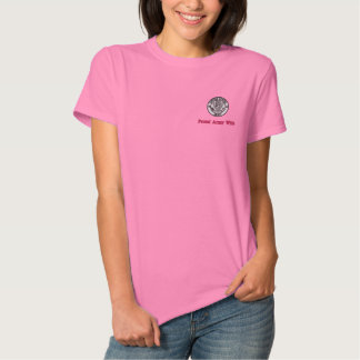 Proud Army Wife Embroidered Shirt