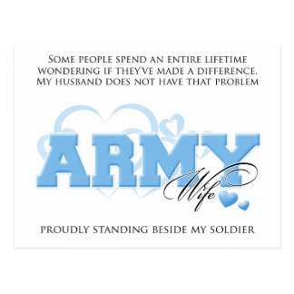 Proud ARMY Wife Postcard