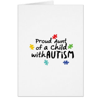 Proud Aunt Autism Awareness Puzzle Ribbon Gift Card
