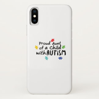 Proud Aunt Autism Awareness Puzzle Ribbon Gift Case-Mate iPhone Case