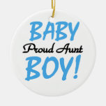 Proud Aunt Baby Boy T-shirts and Gifts Christmas Tree Ornaments