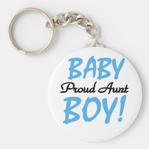 Proud Aunt Baby Boy Tshirts and Gifts Basic Round Button Keychain