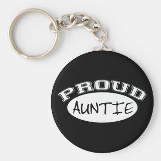 Proud Auntie (White) Keychain