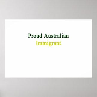 Proud Australian Immigrant Poster