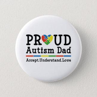 Proud Autism Dad 2 Inch Round Button
