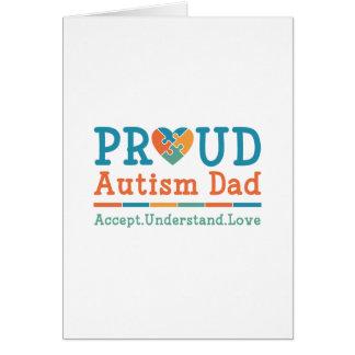 Proud Autism Dad Card