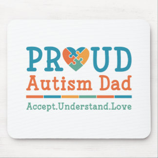 Proud Autism Dad Mouse Pad