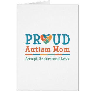 Proud Autism Mom Card