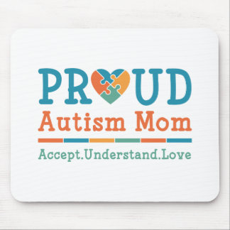 Proud Autism Mom Mouse Pad