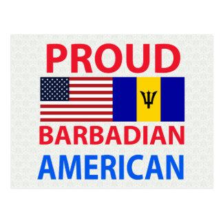 Proud Barbadian American Postcard