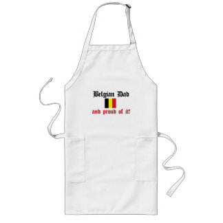 Proud Belgian Dad Long Apron