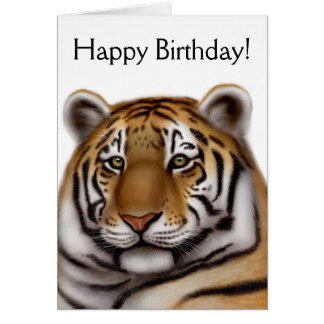 Proud Bengal Tiger Birthday Card