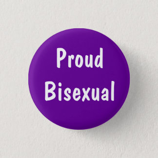 Proud Bisexual badge 1 Inch Round Button
