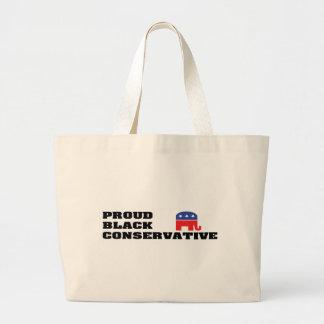 Proud Black Conservative Canvas Bags