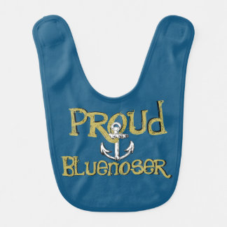 Proud Bluenoser Nova Scotia anchor baby bib tartan