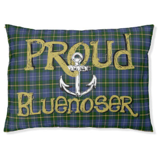 Proud Bluenoser Nova Scotia anchor dog bed pillow