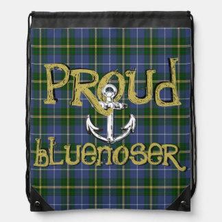 Proud Bluenoser Nova Scotia anchor drawstring Bag