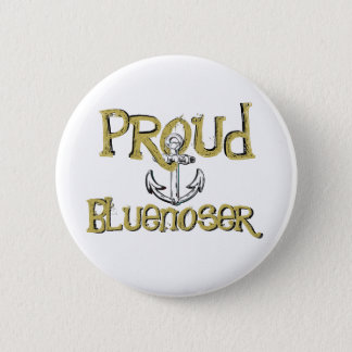 Proud Bluenoser Nova Scotia anchor  pin Badge