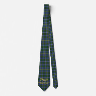 Proud Bluenoser Nova Scotia anchor  tie tartan