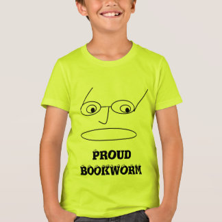PROUD BOOKWORM Design Kids T-Shirt