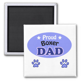 Proud Boxer dad Magnet