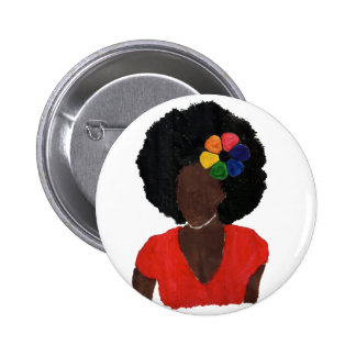 Proud Brown Lady 2 Inch Round Button