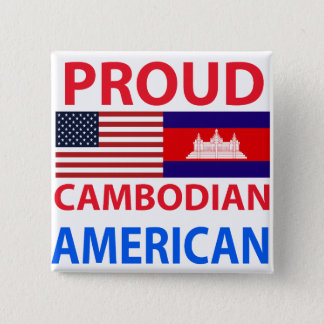 Proud Cambodian American 2 Inch Square Button