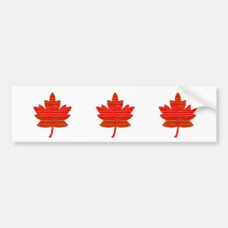 Proud Canadian MAPLE LEAF ENERGETIC Red on Silk Bumper Stickers
