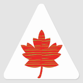 Proud Canadian MAPLE LEAF ENERGETIC Red on Silk Triangle Stickers