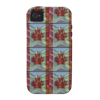 PROUD CANADIAN MAPLE LEAF Pattern Case-Mate iPhone 4 Covers