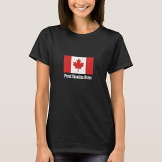 Proud Canadian Nurse/Maple Leaf Flag T-Shirt