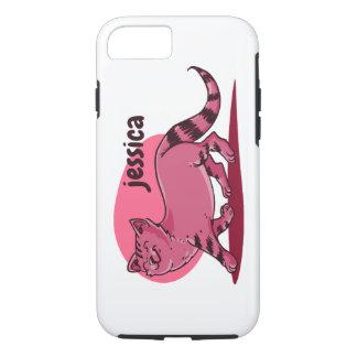 proud cat walking cartoon style funny illustration iPhone 8/7 case