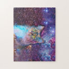 Proud Cat With Space Background Jigsaw Puzzle