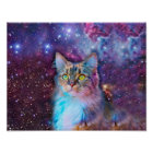 Proud Cat With Space Background Poster