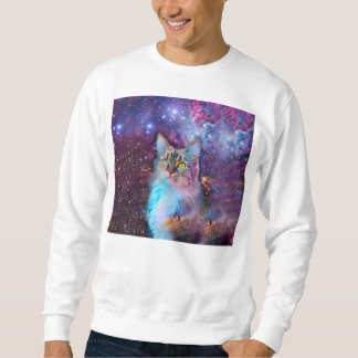 Proud Cat With Space Background Sweatshirt