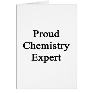Proud Chemistry Expert Greeting Cards