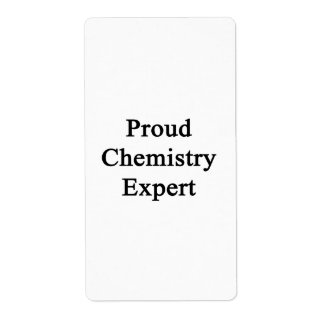 Proud Chemistry Expert Shipping Labels