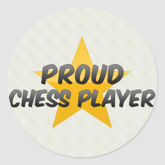 Proud Chess Player Classic Round Sticker