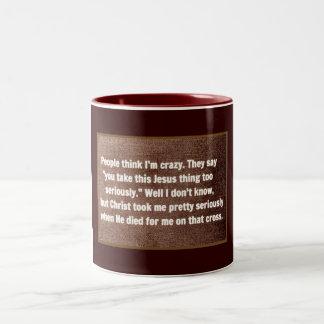 Proud Christian Two-Tone Coffee Mug