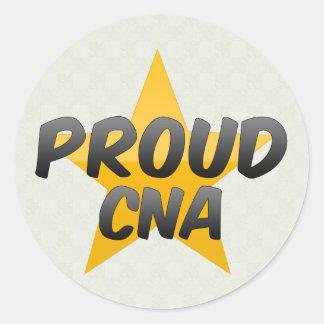 Proud Cna Round Sticker