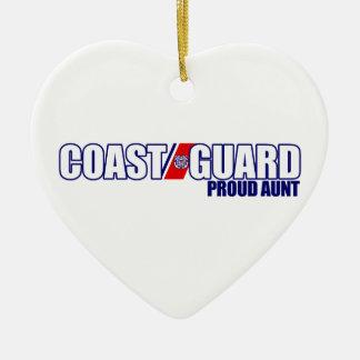 Proud Coast Guard Aunt Ceramic Ornament