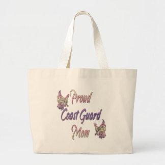 Proud Coast Guard Mom Jumbo Tote Bag