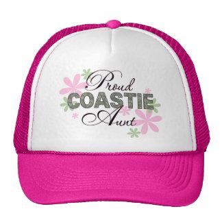 Proud Coastie Aunt Camo Mesh Hats