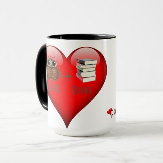Proud Coffee Book Addict, 15 oz Mug