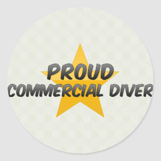 Proud Commercial Diver Round Sticker