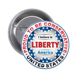 Proud Conservative 2 Inch Round Button